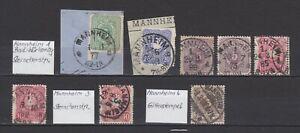 DR-Lot-von-15-Marken-mit-034-MANNHEIM-034-Stempel-bitte-ansehen