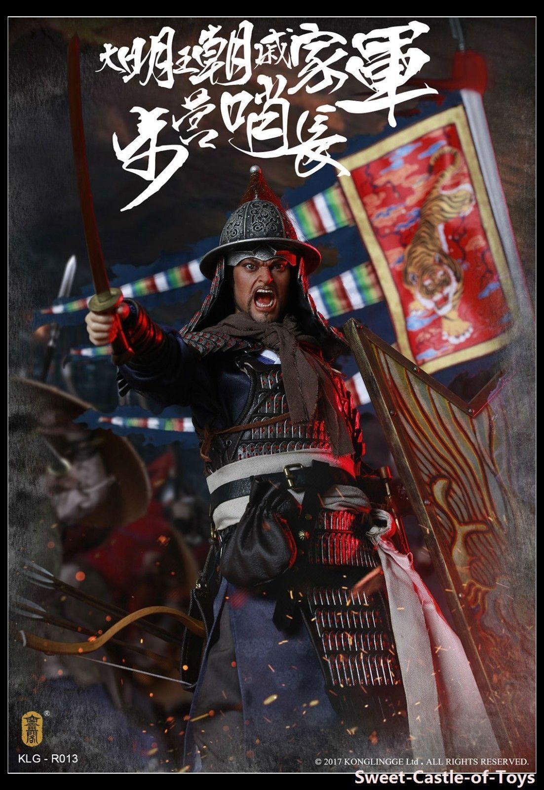 KLG-R013 Kong Ling Ge 1 6 Ming Dynasty Series Qi  troop walk camp guard leader  trova il tuo preferito qui