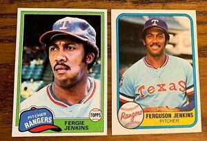 Fergie-Jenkins-1981-Topps-158-and-Fleer-622-Rangers