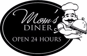 Mom-039-s-Diner-Open-24-Home-Decor-Vinyl-Decal-Wall-Sticker
