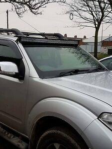 Nissan Navara D40 52 Quot Led Light Bar Set Up With Custom
