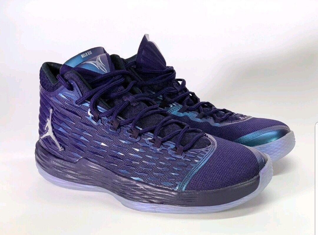 Nike Air Jordan Melo M13 Purple Dynasty Metallic Silver 881562-505 Men's Sz 13