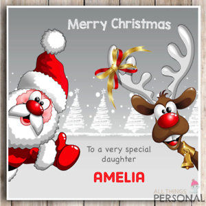 Merry Christmas Niece.Details About Personalised Christmas Card Son Daughter Granddaughter Grandson Uncle Aunt Niece