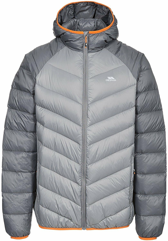 Trespass Rusler Herren Outdoor Daunenjacke in Storm Grey erhältlich - X-Large