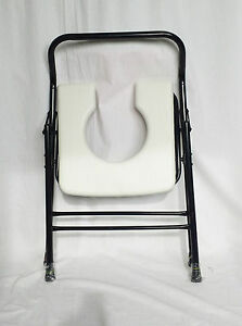 Folding Commode Portable Travel Potty Chair Toilet Seat