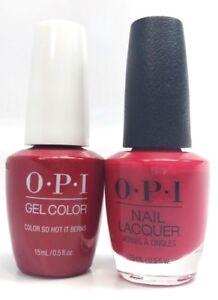 Details About Opi Soak Off Gel Polish Nail Polish Color So Hot It Berns Gc Z13 0 5 Oz