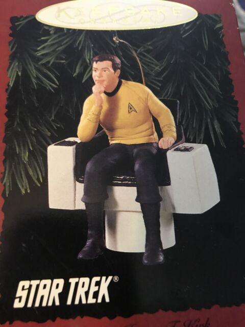 STAR TREK VTG Hallmark Keepsake 1995 Ornament Capt James T. Kirk Pre-owned