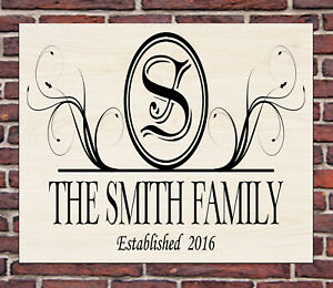 PERSONALISED METAL HOME FAMILY WALL SIGN GIFT PRESENT WATERPROOF ANY SURNAME