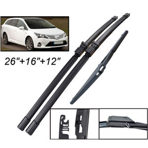 3Pcs-Front-Rear-Windscreen-Wiper-Blades-Set-For-Toyota-Avensis-T270-09-18