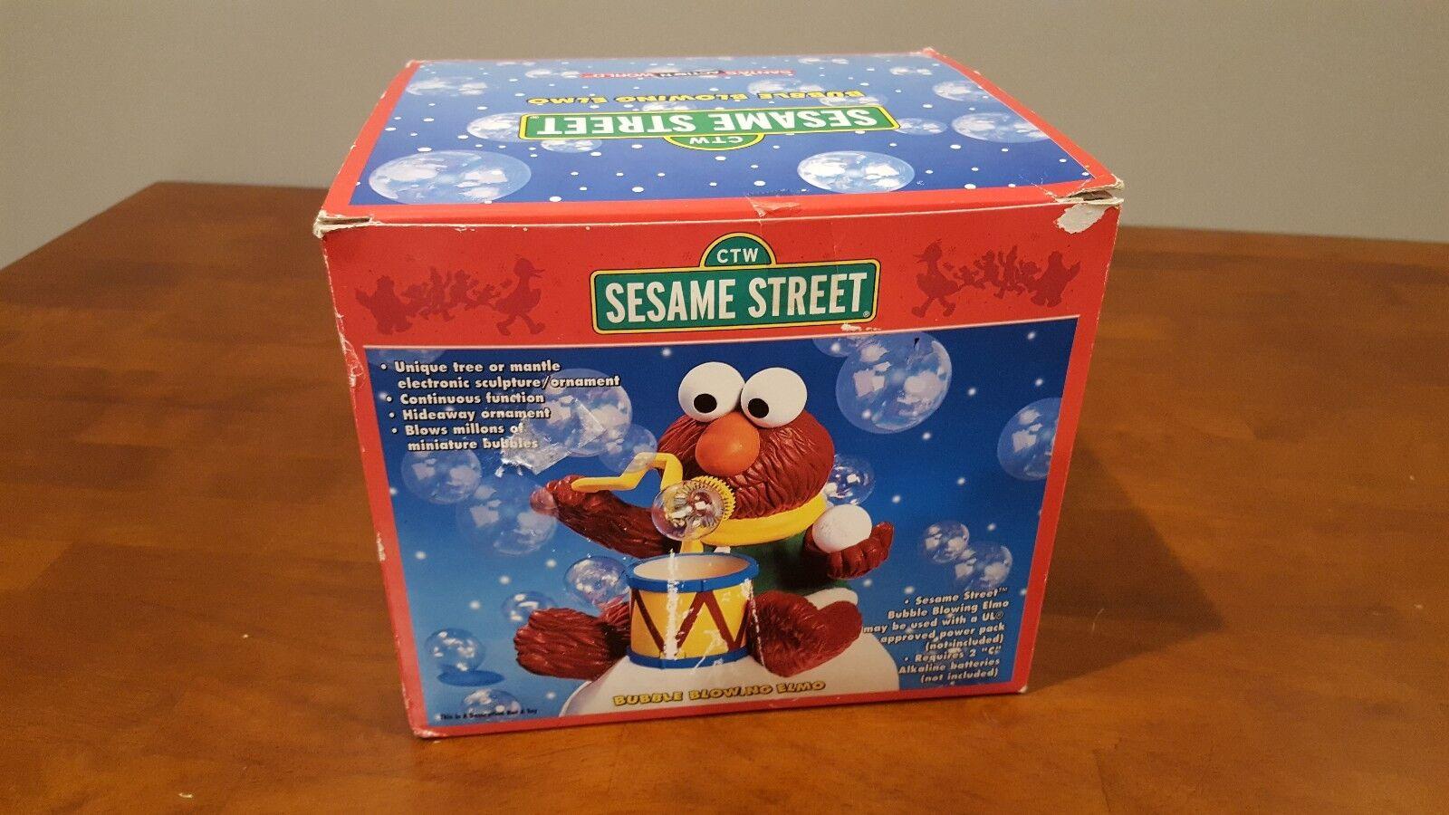 Kurt S. Adler Sesame Street Bubble Blowing Elmo Rare