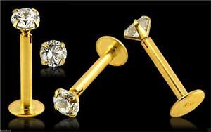 14k-Carat-Gold-Labret-Jewelled-Lip-Earring-Monroe-Piercing-Bar-2mm-Gem-16g-8mm