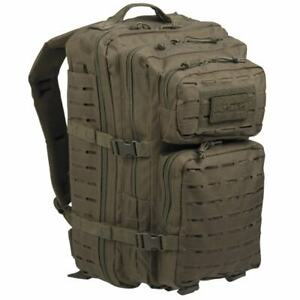 Mil-Tec-grandes-laser-Molle-Militar-Ejercito-De-Asalto-Mochila-Pack-Daysack-36L-Verde