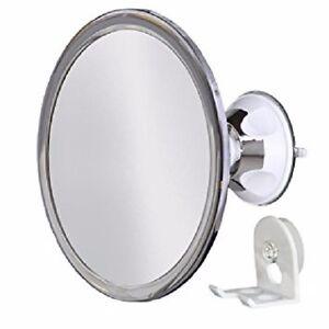 No Fog Shower Mirror with Rotating, Locking Suction; Bonus Separate Razor Holder
