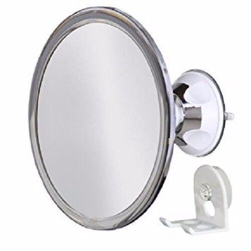 No Fog Shower Mirror with Rotating Locking Suction; Bonus Separate Razor Holder