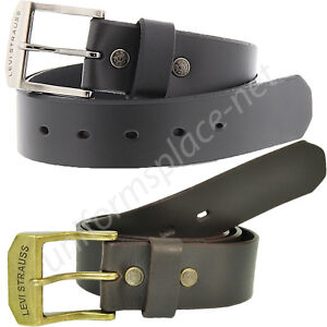 Levis-Leather-Belt-Mens-1-1-2-034-genuine-Bridle-leather-strap-with-beveled-edges
