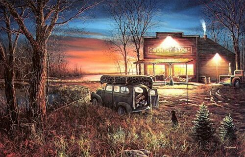 Jim Hansel Patiently Waiting Old Country Store print  12 x 8