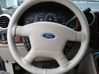 Sand 1996 Ford Taurus Sho Genuine Leather Steering Wheel Cover Wheelskins Ax