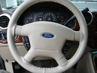 Sand 2001 Ford Windstar Genuine Leather Steering Wheel Cover Wheelskins Axx