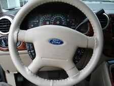 SAND Leather Steering Wheel Cover Ford Wheelskins Cowhide Leather 15 3/4 X 3 7/8