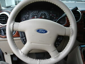 SAND Genuine Leather Steering Wheel Cover for Ford Wheelskins Size ...