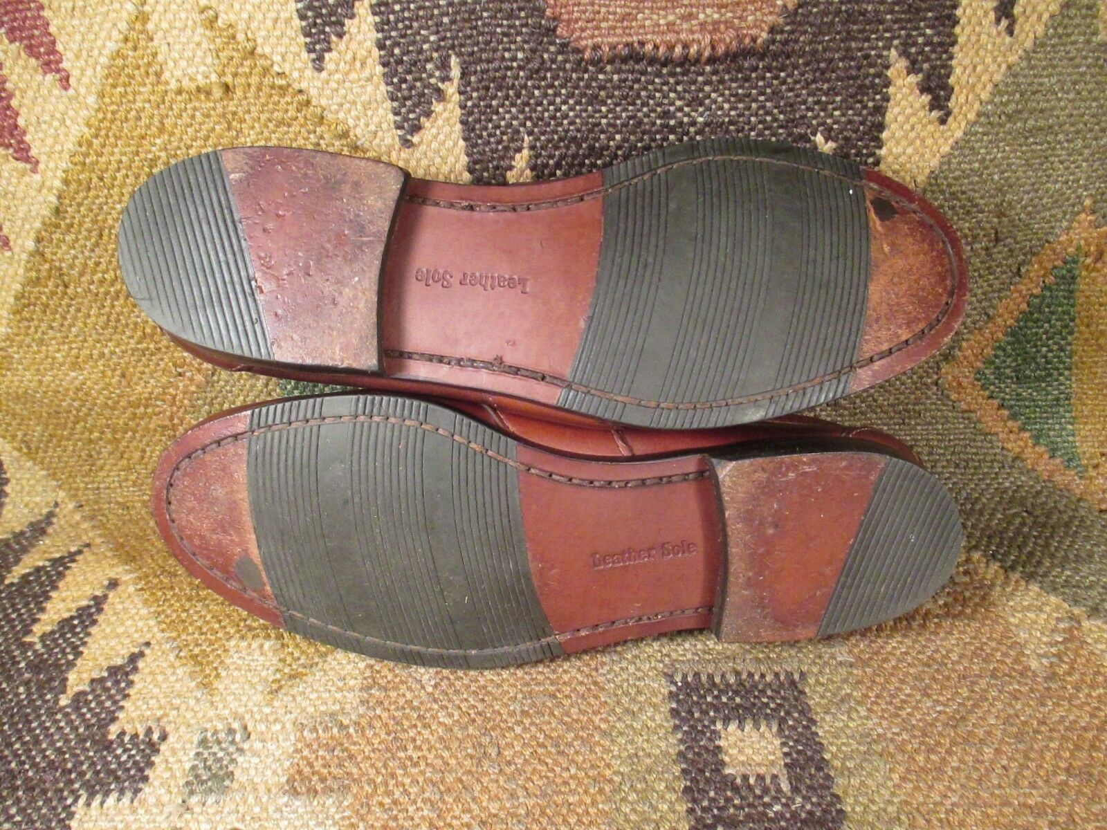 Scarpe casual da uomo  Louis Roth Brown leather Penny Loafer SIZE USA- 8 D Made in USA
