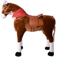 XXL Plüsch Pferd Standpferd Reitpferd Kinder Reittier Spielpferd 108cm Kopfhöhe