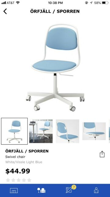 Stupendous Ikea Chair Sporren White Vissle Light Blue Gmtry Best Dining Table And Chair Ideas Images Gmtryco