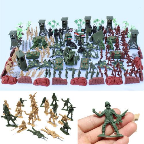 170Pcs Set Military Toy Soldier Army Tank Plane Men 5cm Figures Accessories  C