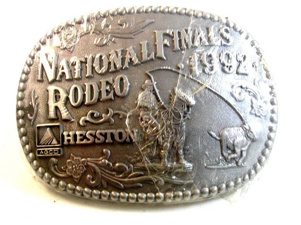 1992 Nacional Finales Rodeo Hesston Hebilla de Cinturón De Adm Menta En Plástico