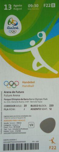 mint TICKET 13.8.2016 Olympia Rio Handball Men/'s Slowenien Deutschland # F22
