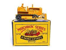 Matchbox Lesney No.18b Caterpillar Bulldozer In 'B3' Box (VERY GOOD CONDITION)