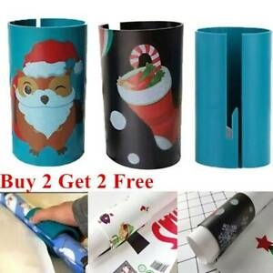 Xmas-Sliding-Wrapping-Paper-Cutter-Present-Wrap-Pack-Roll-Tool-Christmas-Greatfu