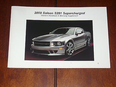 saleen owners manual  supercharged handbook ford