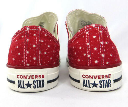 Converse Rare Stars All Star Red Cut White Size Womens 10,12 Mens 8,10 New Rare