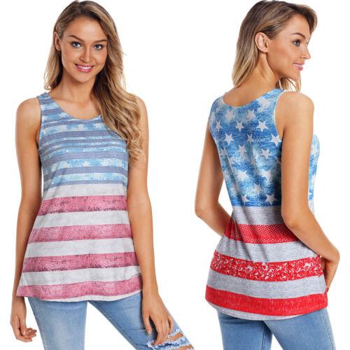Hellblaue amerikanische USA flagge vintage trägershirt sommer top damen