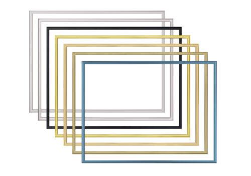 Aluminium-Bilderrahmen ALASKA 35 x 65 cm In 7 verschiedenen Farben.