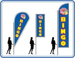 Image Is Loading Bingo Flags Pole Complete Flag Kit For
