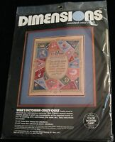 Vera's Victorian Crazy Quilt Counted Cross Stitch Kit Dimensions 1989 3677
