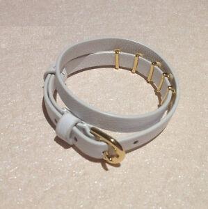 Image Is Loading Stella Amp Dot White Leather Wrap Bracelet With