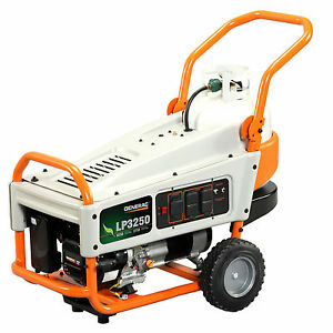 Generac 6000 LP3250 3 250 Watt LP Liquid Propane Portable Power Generator