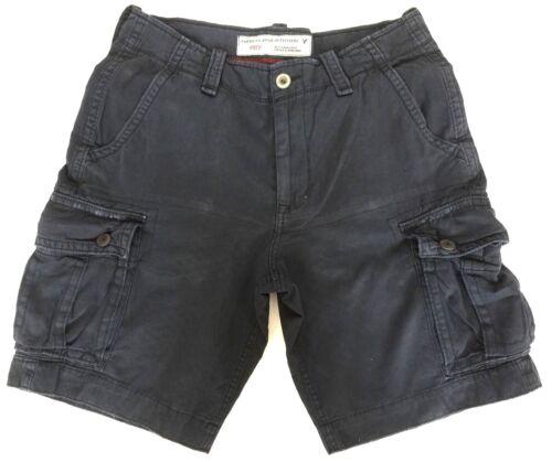 """Pantaloncini da uomo American Eagle Blu Navy Classico Combattimento Cargo Girovita 30/"""" S M £ 18 vendita"""