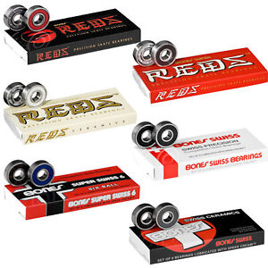 Image is loading BONES-BEARINGS-Super-Reds-Swiss-Ceramic-ect-Skateboard- 02e11abdcde