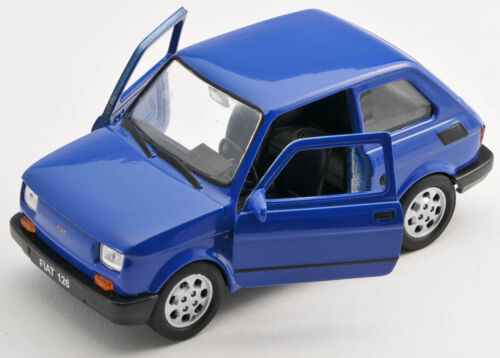 blue Welly Modell Auto 1:27 NEU /& OVP BLITZ VERSAND Fiat 126 p blau