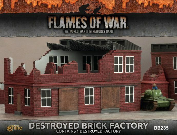Battlefield In A Box - Destroyed Factory -  BB235