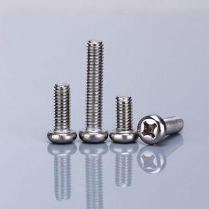 M4-4-100mm-Pan-Head-Phillips-Screws-Machine-Screws-Bolts-G304-Stainless-Steel