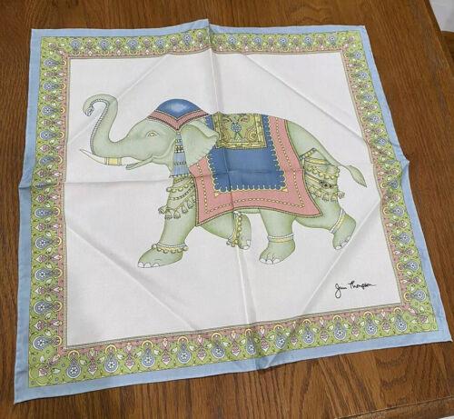 Elegant Jim Thompson Thai Silk Elephant Scarf Size