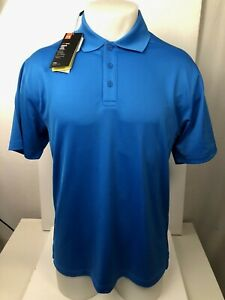 S M NEW w//TAGS XL UNDER ARMOUR MEN/'S BLUE HEAT GEAR S//S LOOSE FIT SHIRTS
