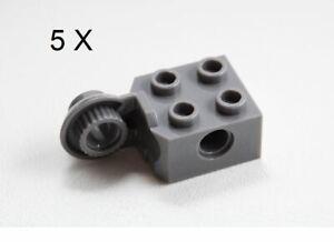 Lego 25 New Dark Bluish Gray Technic Bricks 2 x 4 x 1 1//3 w// Holes 2 x 2 Cutout
