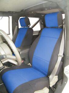 Premium Genuine Neoprene Tailored Front & Rear Seat Covers for Jeep Wrangler JK