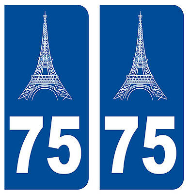 75 Paris Tour Eiffel Departement Immatriculation 2 X Autocollants Stickers Auto A Plastic Case Is Compartmentalized For Safe Storage Auto, Moto – Pièces, Accessoires
